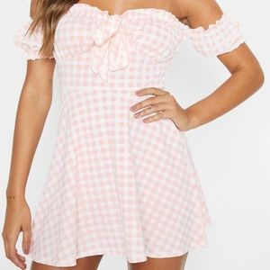 Pretty Little Thing Pink Gingham babydoll dress